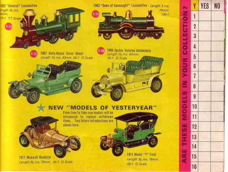 Matchbox 1964 catalogue